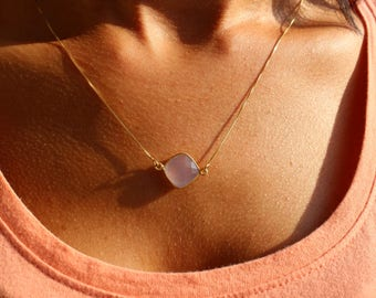 Necklaces For Women, Dainty Necklace, Amethyst Necklace, Minimalist Necklace, Layered Necklace, Tiny Necklace, Gold Necklace, Stone Necklace