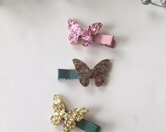 Baby Hair Clips, Toddler Hair Clips, Butterfly Hair Clips, Hair bows, Non Slip Hair Clips, Alligator Clips, Hair Accessories