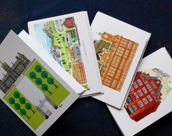 Edinburgh Greetings Cards (Pack of 4) | Scottish Gifts | Blank Cards | Princes Street | New Year |  Thank You Cards | Made in Scotland