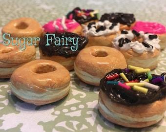 Dozen Donut Clay Miniatures