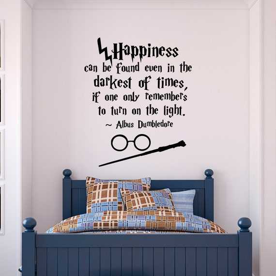 Harry Potter Wall Decal Quote Happiness Can Be Found Even