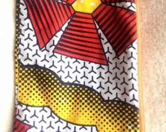 afro-print mini zip bags