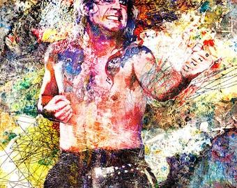 Ozzy Osbourne Art, Ozzy Painting, Heavy Metal Original Painting Art Print