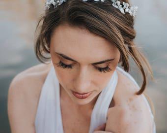 """Wedding Hair Accessories, Bridal Hair Accessories, Bridal Headpiece ~ """"Ariana"""" Bohemian Headband  (Silver, Gold or Rose Gold)"""