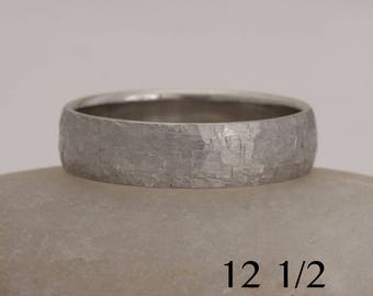 Men's palladium wedding band, size 12 1/2 and custom sizes, 950 Pd, #776.