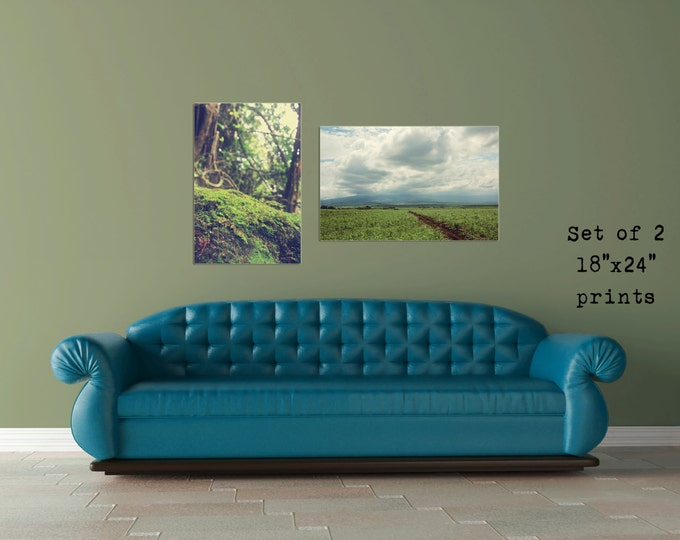 Tropical Decor, Wanderlust Travel Decor, Beach House Decor, Hawaii Travel Decor, Tropical Wall Art, Set of 2, 8x12 10x15 12x18 16x24