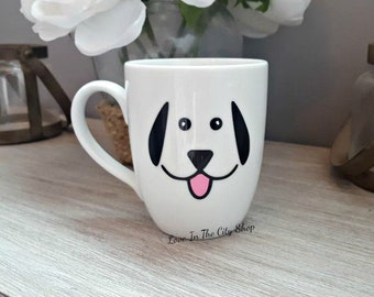 Dog Mug, Puppy Mug, Dog Face, Custom Coffee Mug, Whiskers Mug, Funny Coffee Mug, Dog Cup, Woof Mug, Face Coffee Mug, Funny Mug, Dog Lover