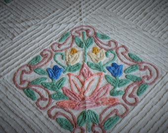 Vintage Chennile Bedspread
