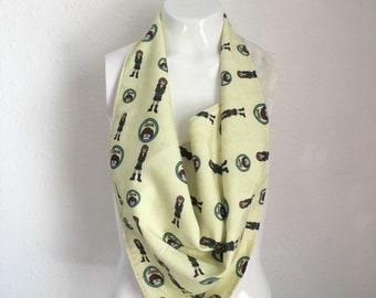 bandana scarf, large triangle scarf, handmade scarf, vintage fabric scarf