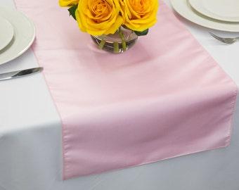 Pink Taffeta Table Runner | Wedding Table Runners