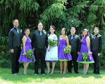 Deep Purple Bridesmaids Dress ... 37 Colors... Plus Size Dress, Infinity Convertible Dress,  Wedding Dress, Bohemian Dress,  Maternity Dress