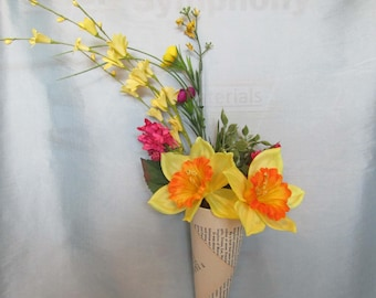 spring time wall hanger yellow and pink