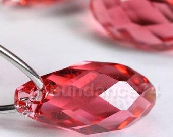 4pcs Swarovski Elements - Swarovski Crystal Pendants 6010 13mm Briolette drop - Padparadscha