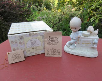 """Vintage Enesco Precious Moments """"Thank You For Coming To My Ade"""" #E-5202 in Box 1980"""