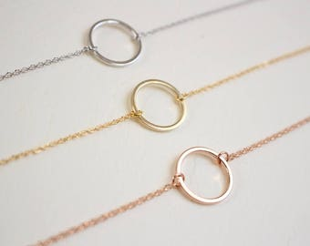 Eternity Circle bracelet, Geometric bracelet,  Karma bracelet, Bridesmaid bracelet, Bridesmaid jewelry, Wedding bracelet, Valentines day