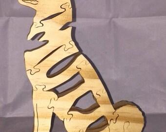 Mutt dog woooden jigsaw puzzle