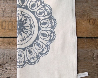 NEW/Flour Sack Tea Towel/Egg Tray Motif/Choose your color