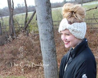 Bow Earwarmer Crochet Earwarmer Headband
