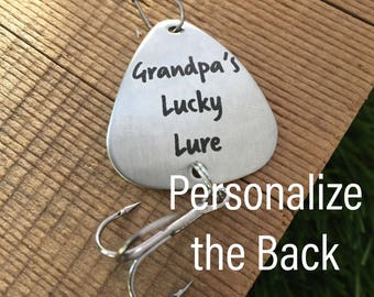 Gift For Grandpa Fishing Lucky Lure Grandpa Fishing Lure Grandpa's Lucky Lure Gift Fishing Christmas Gift For Grandpa Gift Father's Day