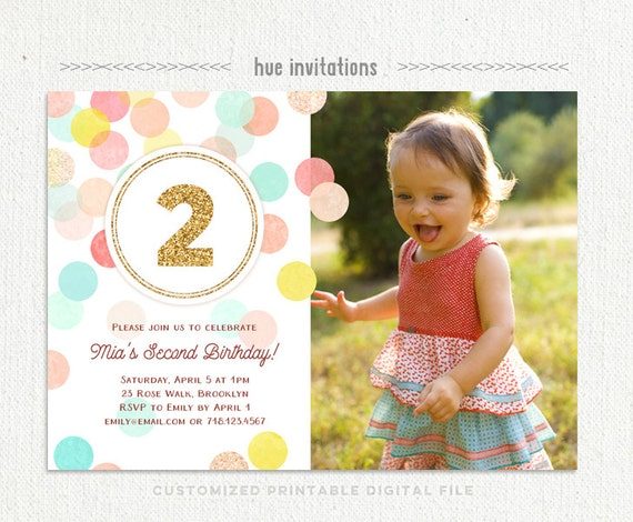 Second birthday invitations akbaeenw second birthday invitations filmwisefo