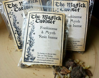 Frankincense and Myrrh Resin Incense, Witchcraft Supply, Wicca Supplies, Witch Incense, Smudging Rituals