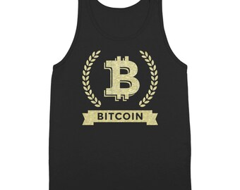 Bitcoin Cryptocurrency Coins Top Gold Mining Tank Top DT1220