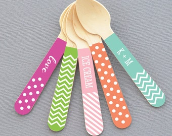 Ice Cream Spoons - Wooden Ice Cream Spoons Ice Cream Party Decor Wedding Ice Cream Spoons Small Wooden Ice Cream Spoons (EB3078P) set of 48
