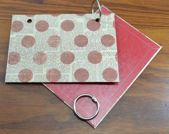 COVER and RINGS ONLY, index card binder, address book, organize recipes, bible scriptures, gift for nurses, teachers, coworker