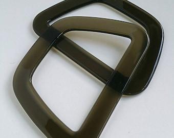 Brown plastic bag handles. 16cm x 11 cm handbag handles - Australia