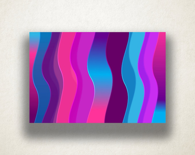 Vivid Wavy Lines Canvas Art Print, Gradient Wall Art, Vibrant Canvas Print, Artistic Wall Art, Canvas Art, Canvas Print, Home Art, Wall Art