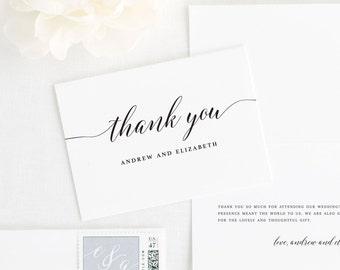 Elegant Romance Thank You Cards