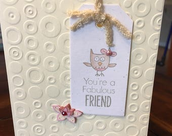 Fabulous Friend - own designed card