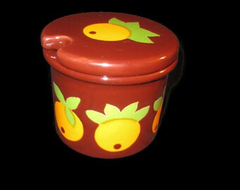 Retro Mod Honey Pot with Oranges by Waechtersbach, Jam, Marmalade, West Germany, 1960s, 1970s, on Etsy by TheRetroLife