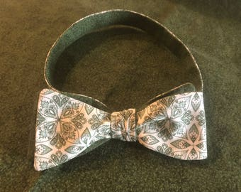 Self Tie Bow Tie with Pocket Square