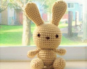 Sweet Bunny - Light Beige Crochet Bunny Doll - Easter Gift - Easter Bunny