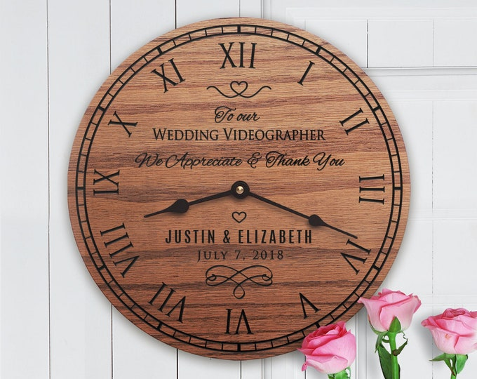 Personalized Wedding Gift For Wedding Videographer - Gift for Wedding Video Editor from Bride and Groom - Couple - Wedding Videographer