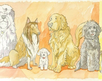 Colorful Canines print