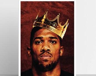 Anthony Joshua Print / Boxing Art / Sports Print / Archival Print / Boxing Poster / AJ / Wembley / Heavyweight Boxing