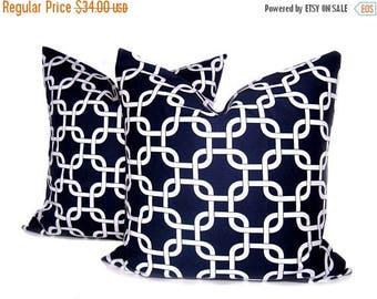 15% Off Sale Navy Blue Pillow . Nautical Pillow . Lattice Pillow Sofa Pillow. Decorative Pillows . Throw pillow covers . Home decor.