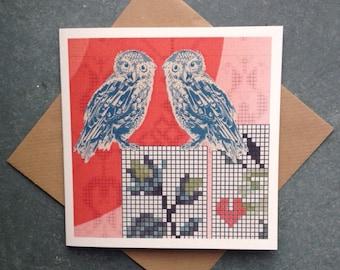 Wise Love, Owl Greetings Card