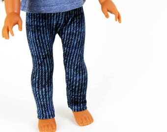 Fits like Wellie Wishers Doll Clothes - Bright Denim Blue Jeggings | 14.5 Inch Doll Clothes