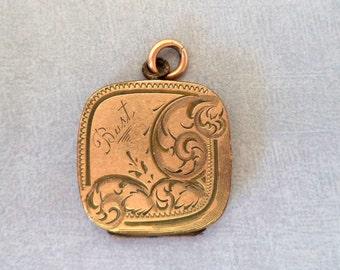 Vintage Rose Gold Filled Locket Fob