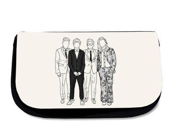 AMAs Makeup Bag Pencil Case Wash Bag One Direction Harry Styles Louis Tomlinson Liam Payne Niall Horan Cosmetics Travel