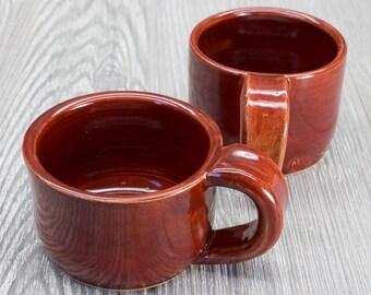 Red Ceramic Coffee Mug, Coffee Mug, Espresso Cup, Red Home Decor, Coffee Gift, Gift Mom, Mother's Day Gift, Ceramics & Pottery, Pottery Mug