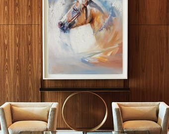 Abstract Oil Painting, Original oil painting, Living Room wall art, Extra Large Wall Art, Horse Art, Horse Oil Painting, Paintings On Canvas