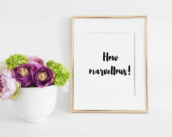 How Marvellous! | Christian Wall Art | Scripture Art | Christian Decor | Instant Download | Digital Art Print