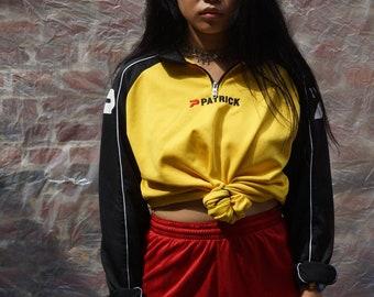 Yellow and black Zip Sweatshirt