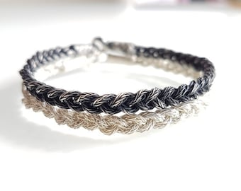 Double Bracelet Silver VII braided 925