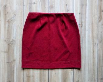 """Vintage Skirt   Vintage Mini Skirt   Mini Skirt   Red Skirt   Mini Skirt Vintage   90s Skirt   Made in USA   Size M   28"""" Waist"""
