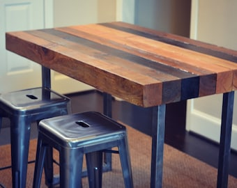 Great Multi Stained Counter Height Table